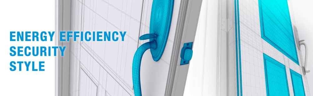 3D Render Showing Door Security & Energy Efficiency Features